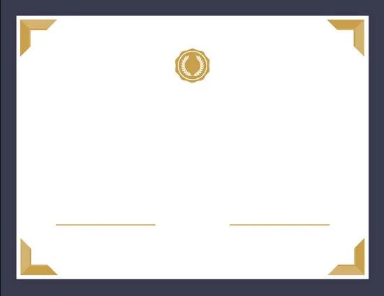 شهادة شكر فارغة للتصميم و الكتابة عليها 2019 عالم الهواتف
