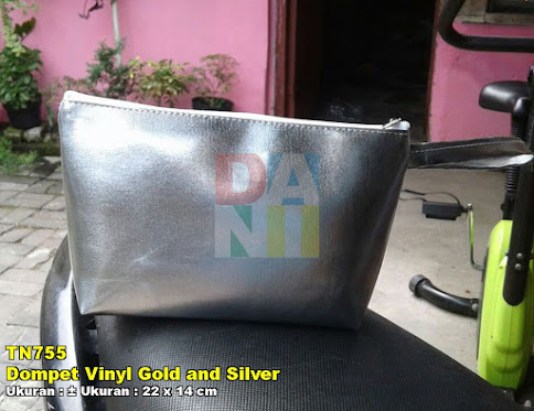 Dompet Vinyl Gold and Silver