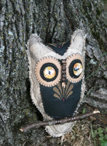 Wise owl - stuffie, upholstery fabric, animal