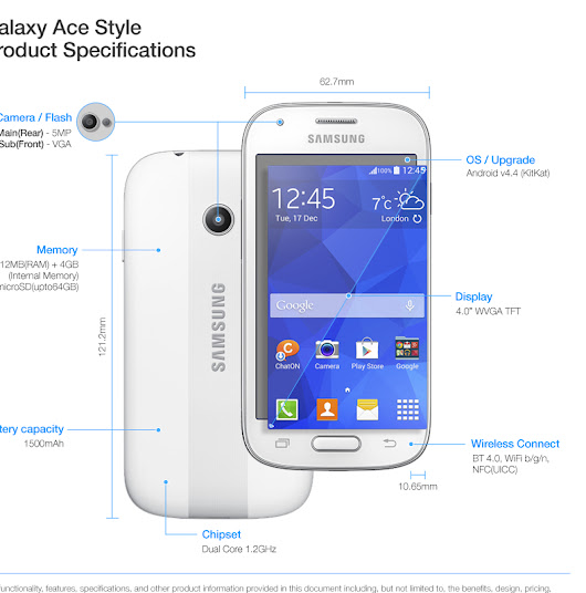 Entry level Samsung Galaxy Ace Style is announced ~ World of Android News, Price, Apps Review & Rumor