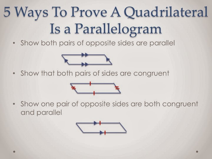 My Rat Ate My Homework How To Prove A Quadrilateral A