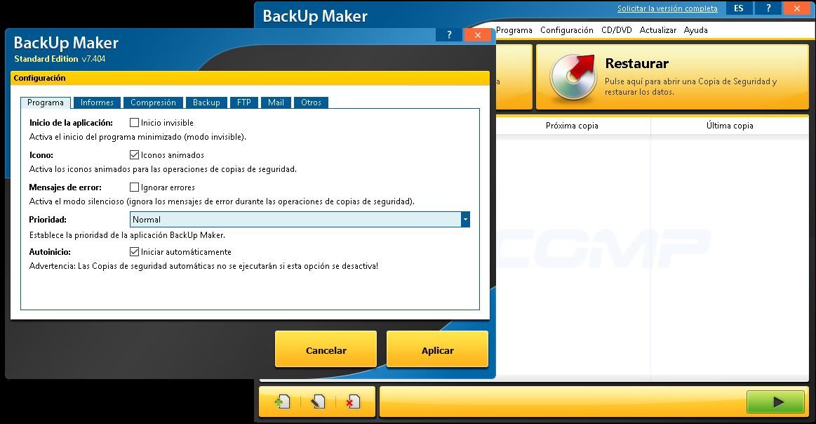 BackUp Maker Professional Full Español