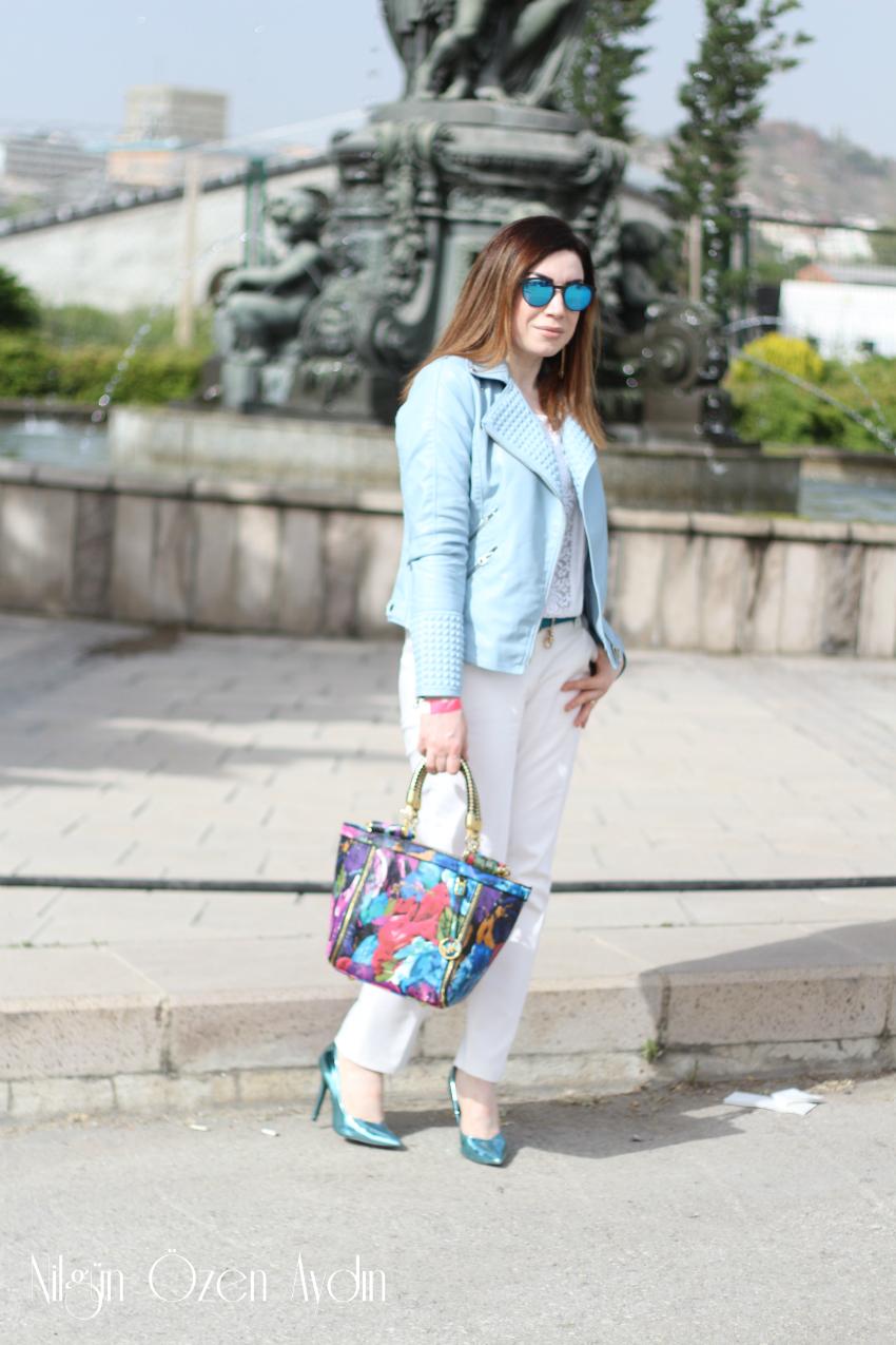 alışveriş-Mavi Deri Biker Ceket-moda blogu-fashion blog-fashion blogger