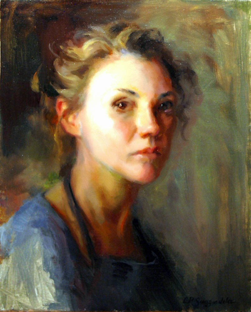 Lynn Sanguedolce, Self Portrait, Portraits of Painters, Fine arts, Painter Lynn Sanguedolce