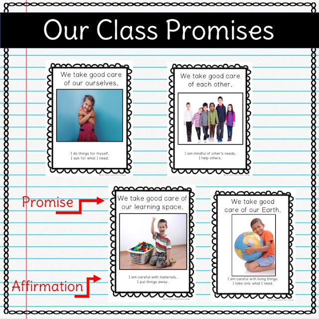 kindergarten classroom rules and management posters