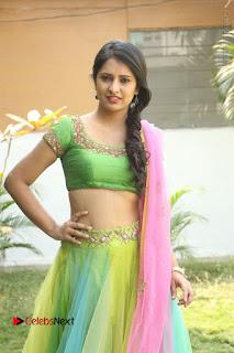 Actress Nikitha Bisht Stills in Lehenga Choli at Pochampally Ikat Art Mela Launch  0137.JPG
