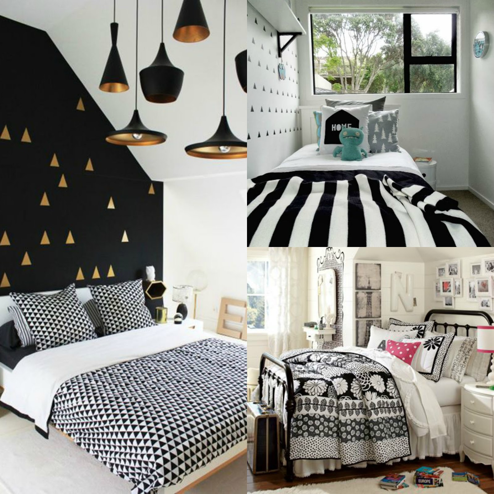 quarto preto e branco