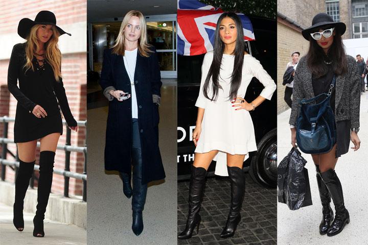 41dfaed827 As botas pretas nunca saem de moda. Elas combinam com qualquer coisa e com  qualquer tipo de roupa!