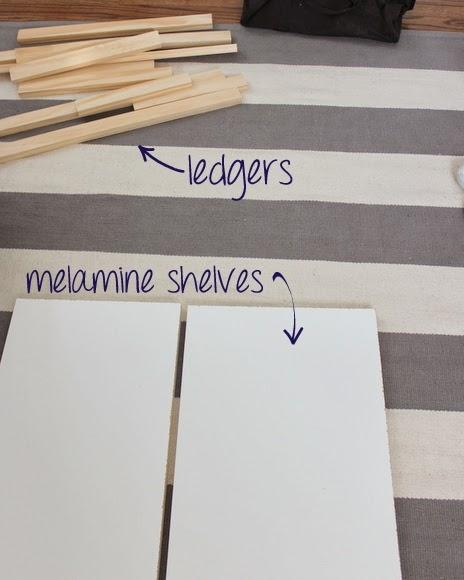 Melamine Shelf tutorial