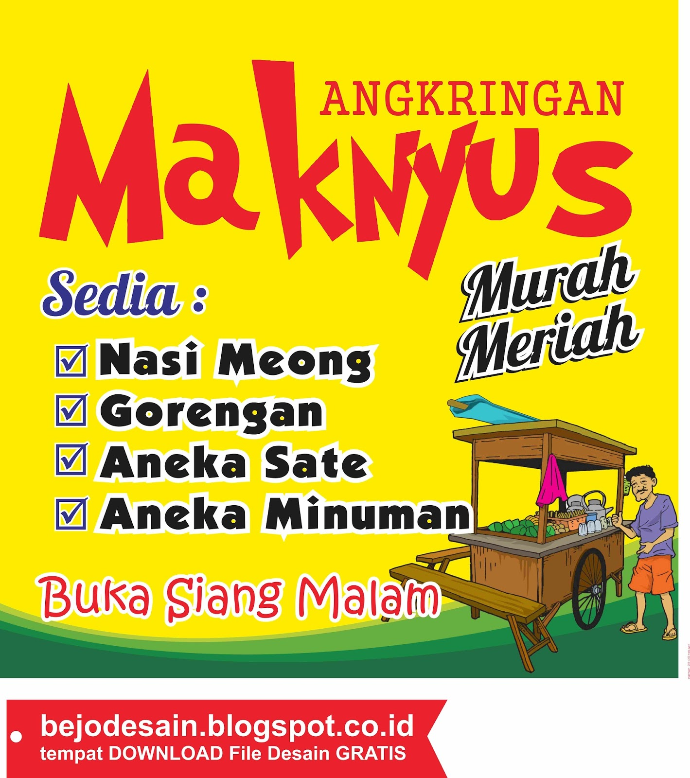 Contoh Banner Desain Banner Angkringan Keren - Crimealirik ...