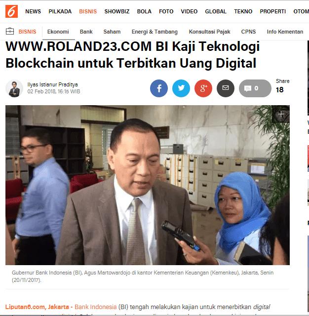 Kabar Bagus ! BI Kaji Teknologi Blockchain dan Terbitkan Uang Digital