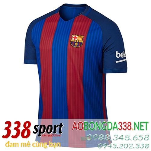 Mẫu Áo Đấu Barcelona Đỏ Xanh Sân Nhà 2016 2017 - 338sport Com f098734f314