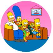 Oblea para tartas Los Simpsons
