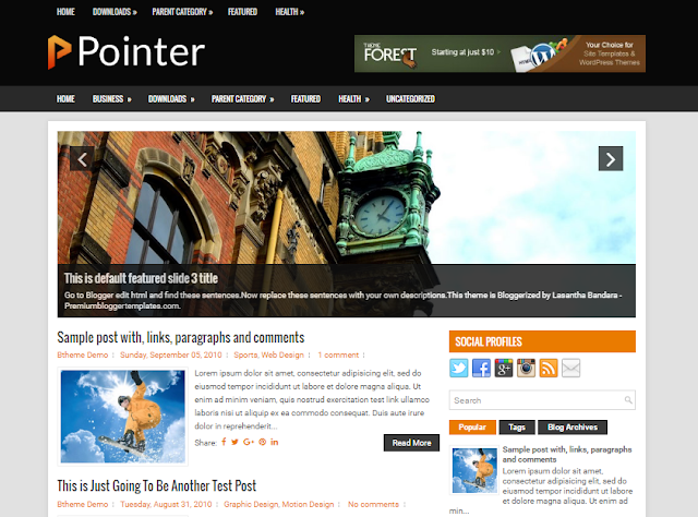 Pointer blogger template