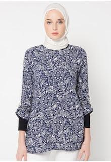Contoh Model Batik Muslim Kerja