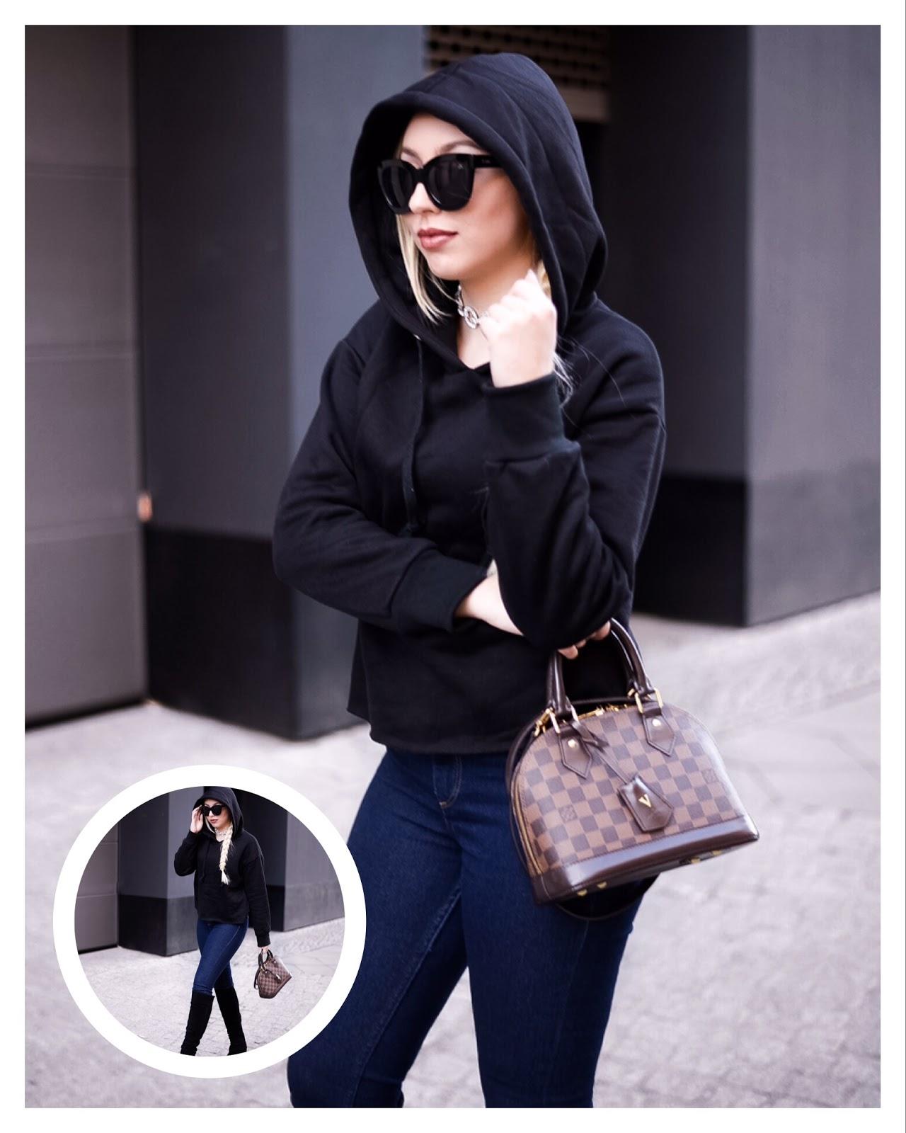 hoodie trend, hoodie streetstyle, black hoodie shein
