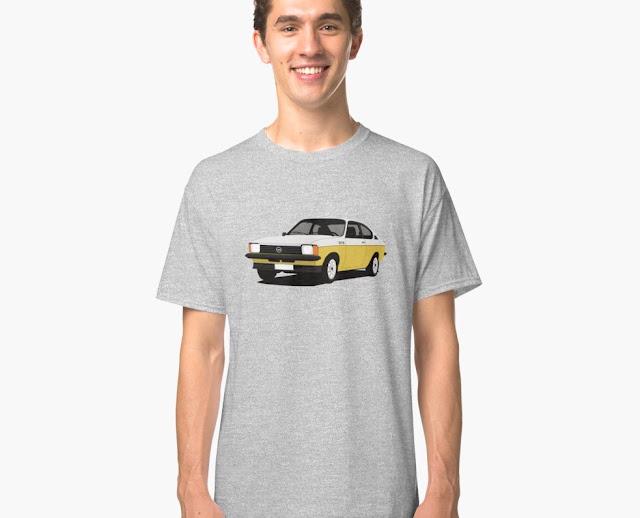 Opel Kadett C GT/E Coupé t-shirt two color illustration