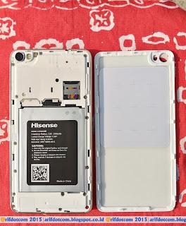 Tampak belakang baterai,simcard