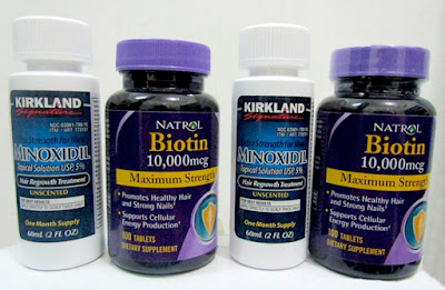 Jual Paket Kirkland dan Biotin Obat Penumbuh Rambut Kepala Botak, Kumis, Jambang, Jenggot dan Brewok