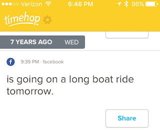 That time I went on a really long boat ride