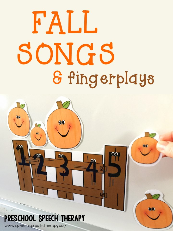 Speech Sprouts: 14 Songs and Fingerplays for Fall in Preschool