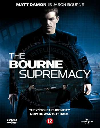 Poster Of The Bourne Supremacy 2004 Dual Audio 720p  [Hindi - English]  Free Download Watch Online world4ufree.org