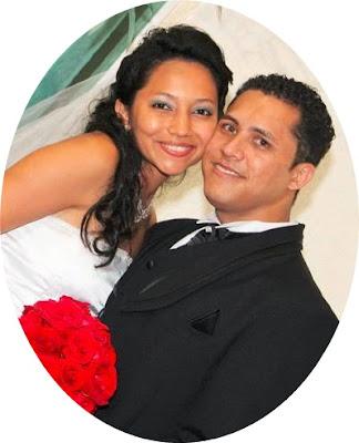 Vanessa ao lado do seu marido Genilsom