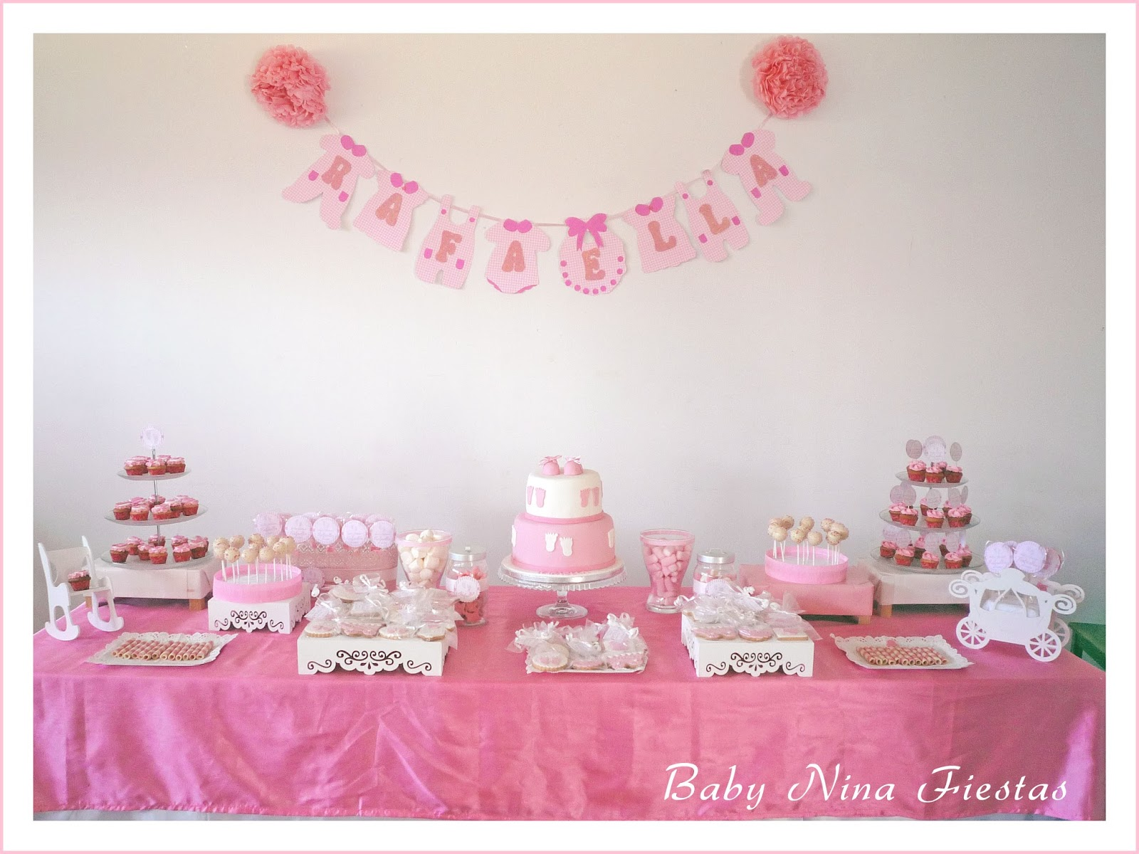 Baby nina fiestas baby shower rafaella for Decoracion baby shower nina