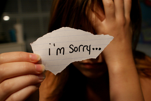 Nicole Forrester - The Olympian Blog: I'm Sorry versus ...