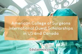 International Guest Scholarships for Young Surgeons by American College of Surgeons, 2019