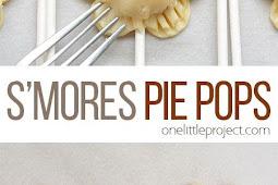 Flower Shaped S'more Pie Pops