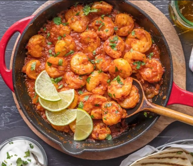 Easy Mexican shrimp skillet #glutenfree #paleo