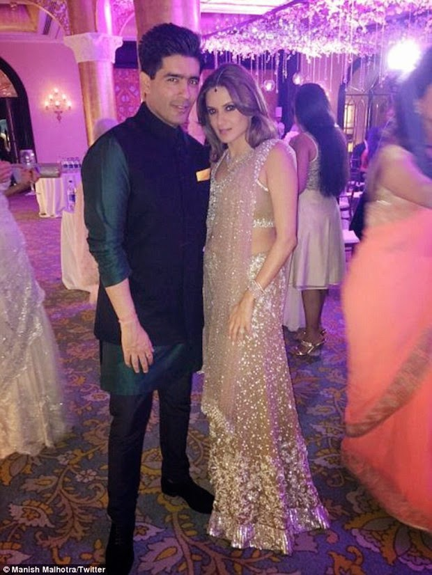 Manish Malhotra With Bride Anu wearing manish design outfit