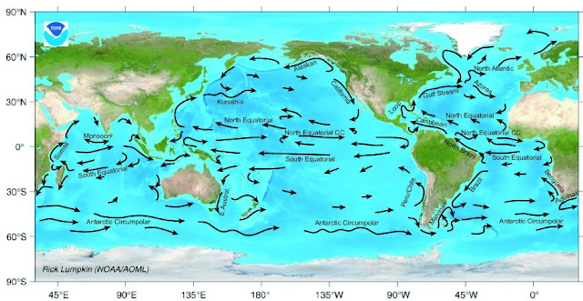Ocean Surface Currents Map