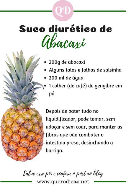 suco diurético com abacaxi