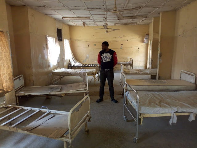 Corper serving in Kano state shares photos showing the terrifying state of the general hospital