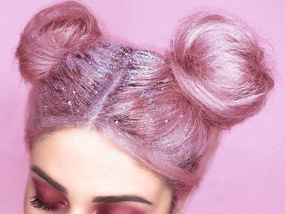 cabello 2017 glitter purpurina