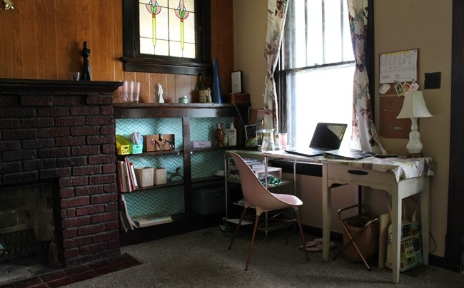 vintage home office and living room from Va-Voom Vintage