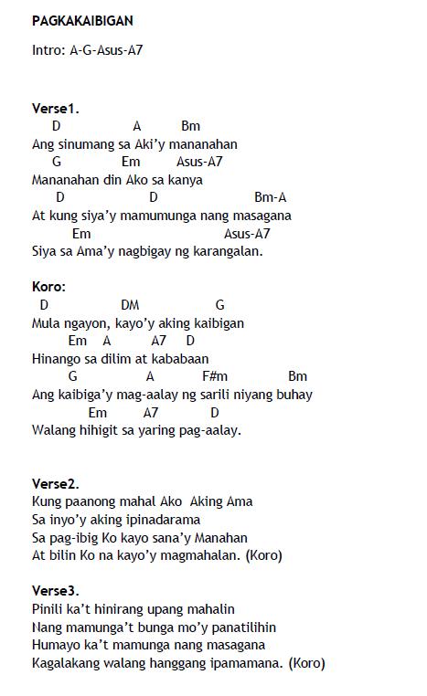 Tagalog Christian Songs Lyrics And Chords Pdf Download