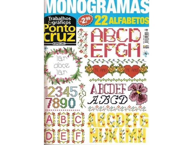 Trabalhos & Gráficos Ponto Cruz Especial Monogramas-Revista