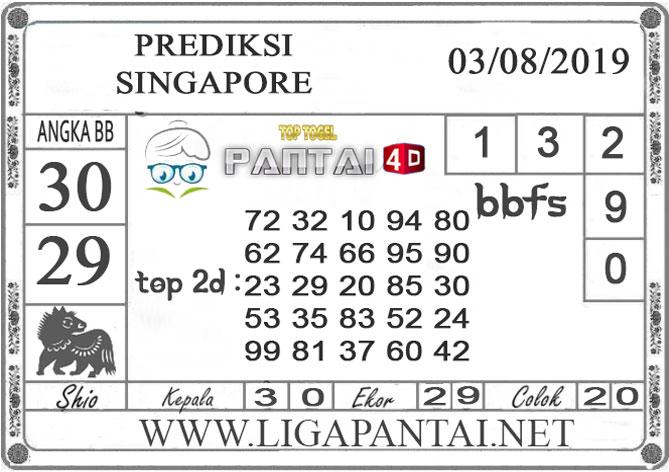 "PREDIKSI TOGEL ""SINGAPORE"" PANTAI4D 03 AGUSTUS 2019"