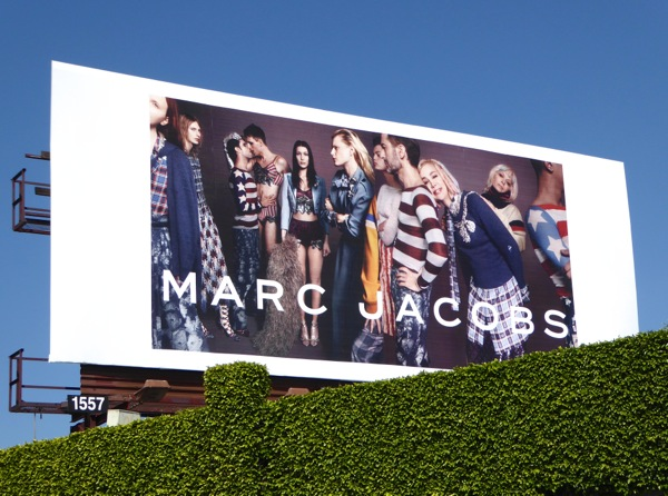 Marc Jacobs Spring 2016 fashion billboard