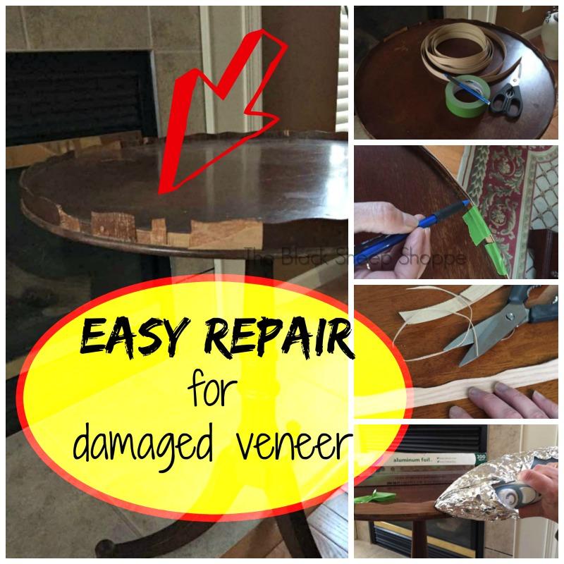 Easy repair method for damaged veneer.
