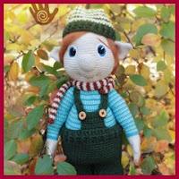 Gnomo navideño a crochet