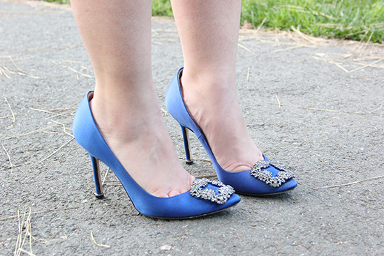 Manolo Blahnik Blue Hangisi Heels | Will Bake for Shoes