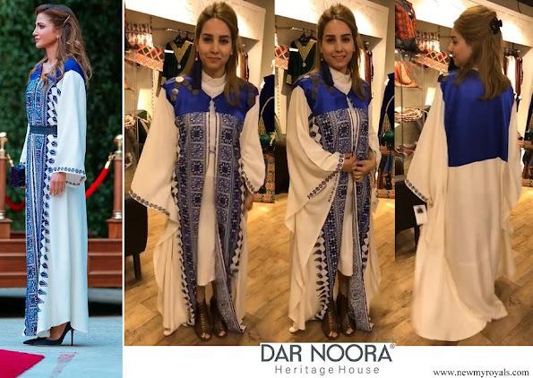 Queen Rania wore Dar Noora Dress