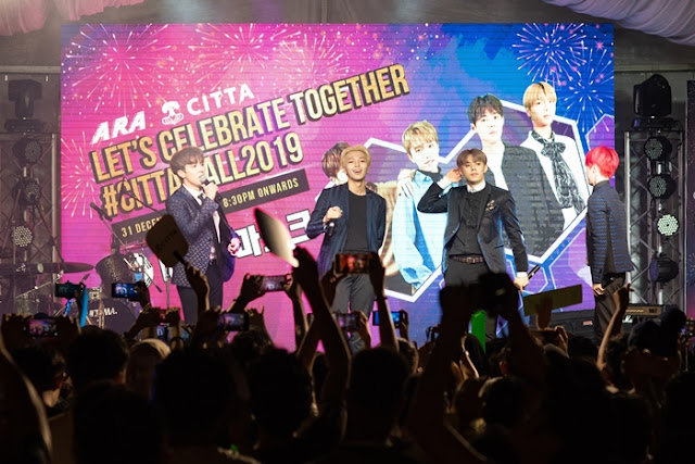 New Year's Eve, CITTA Mall, fireworks, MASC, korean k-pop band, nadir, ethno fusion band, kilafairy, Untitled Dance Crew, DayDream, Rejuvenate Dance Crew, RJVN, hello 2019, lifestyle