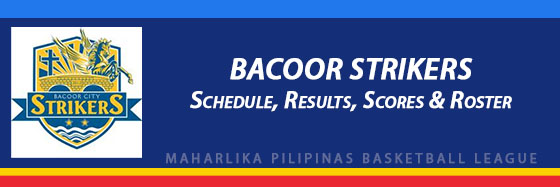 MPBL: Bacoor Strikers Schedule, Results, Scores, Roster