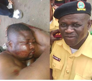 Update: FSARS officer who shot LASTMA official dead in Lagos dies, after being beaten by a mob for shooting the LASTMA official