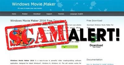Uninstall  Windwos Movie Maker Palsu Sekarang ,Malware Didalamnya!!